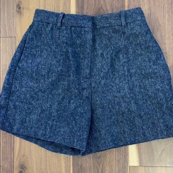 Lined wool shorts